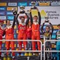 TC2000 - Buenos Aires 2019 - 100 Millas - Carrera - Marcelo Ciarrocchi - Jose Manuel Sapag - Juan Jose Garriz - Hernan Palazzo - Guido Moggia - Lucas Vicino en el Podio