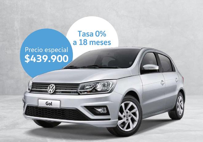 VW Gol Trendline a 439900 pesos y Tasa 0 porciento a 18 meses en Agost0km