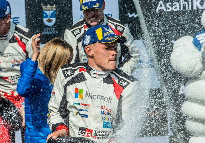 WRC - Finlandia 2019 - Final - Ott Tanak en el Podio