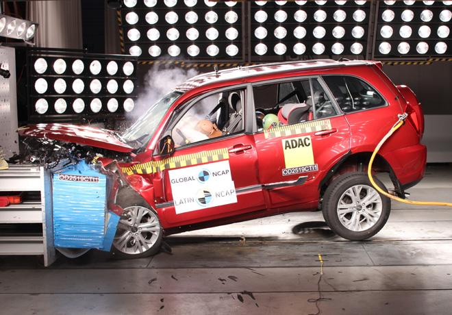 Latin NCAP - Chery Tiggo 3 - con 2 Airbags