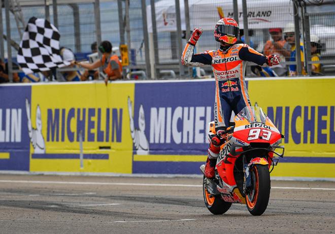 MotoGP en Motorland Aragón – Carrera: Nueva victoria de Márquez, que ya acaricia el título.