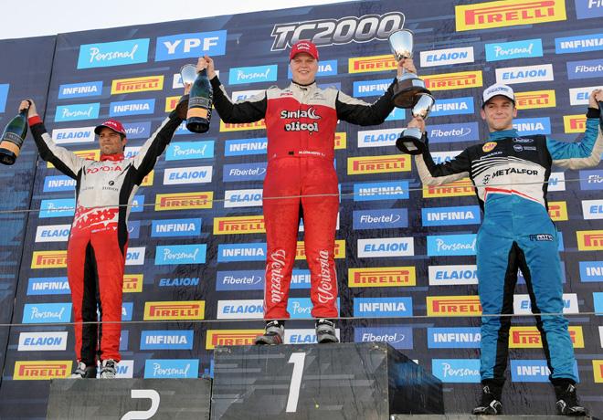 TC2000 - Rio Cuarto 2019 - Carrera Sprint - Sebastian Peluso - Matias Cravero - Martin Chialvo en el Podio