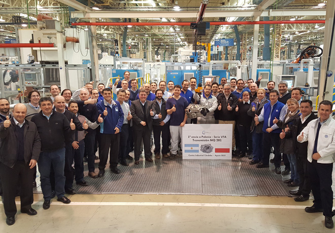 Volkswagen Group Argentina exporto las primeras transmisiones MQ281 a Europa