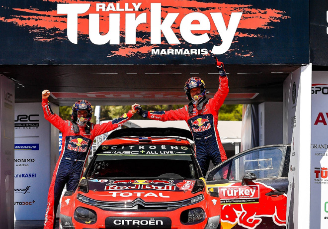 WRC - Turquia 2019 - Final - Sebastien Ogier en el Podio