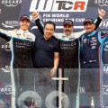 WTCR - Ningbo - China 2019 - Carrera 3 - Yann Ehrlacher - Yvan Muller - Gabriele Tarquini en el Podio