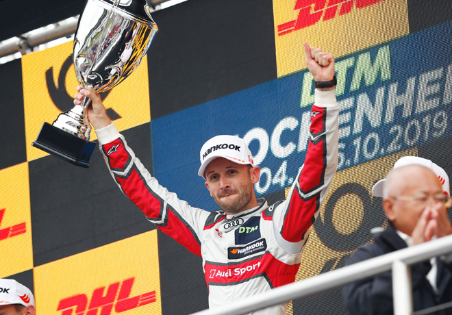 DTM - Hockenheim II 2019 - Carrera 1 - Rene Rast en el Podio