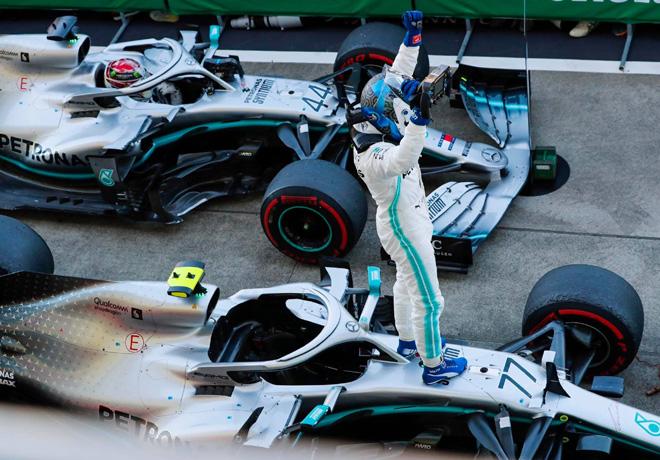 F1 - Japon 2019 - Carrera - Valtteri Bottas y Lewis Hamilton - Mercedes GP