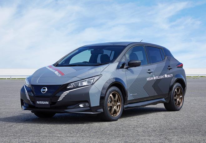 Nissan LEAF e plus con tecnologia de control en las cuatro ruedas y doble motor 1