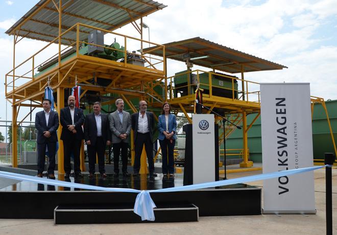 El Centro Industrial Córdoba de Volkswagen Group Argentina reinaugura su Planta Depuradora.