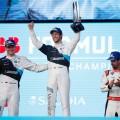 Formula E - Ad Diriyah - Arabia Saudita 2019 - Carrera 2 - Max Guenther - Alexander Sims - Lucas di Grassi en el Podio