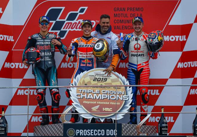 MotoGP en Valencia – Carrera: Márquez rubrica la Triple Corona con Lorenzo.