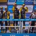 STC2000 - 200 km de Buenos Aires 2019 - Carrera - Franco Vivian-Matias Milla - Leonel Pernia-Damian Fineschi - Santiago Urrutia-Matias Rossi en el Podio