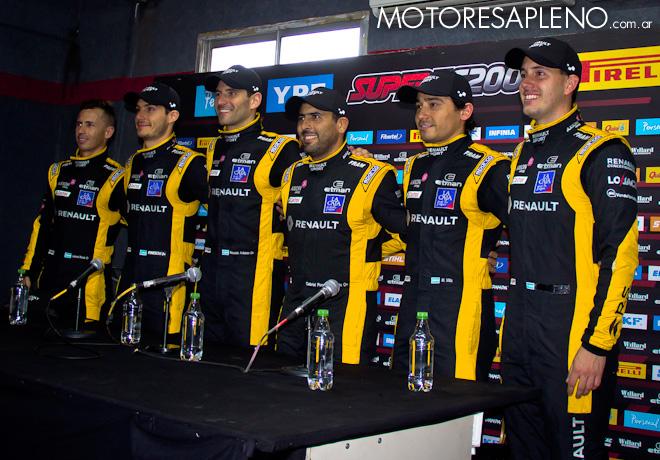 STC2000 - 200 km de Buenos Aires 2019 - Clasificacion - Los pilotos de Renault Sport en la conferencia de Prensa