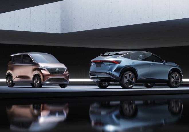 Concepto Nissan IMK y Concepto Nissan ARIYA