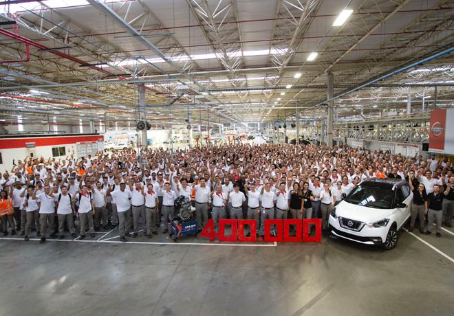 El Complejo Industrial Resende de Nissan Brasil celebra el hito de 400 mil vehiculos fabricados