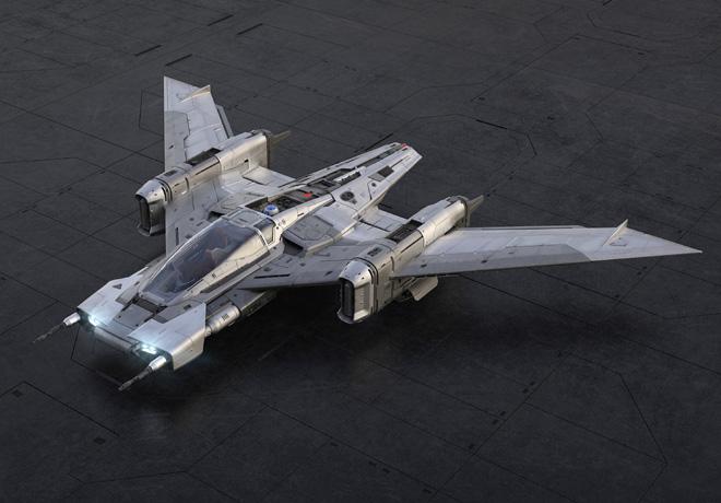 Porsche - Lucasfilm - Tri-Wing S-91x Pegasus Starfighter 1