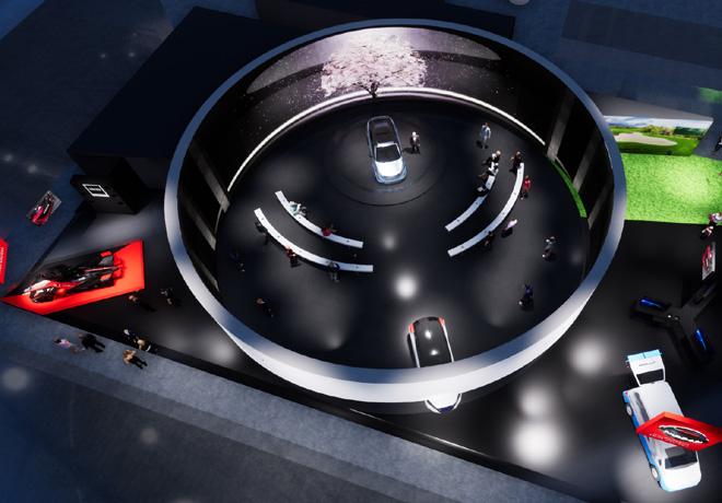 CGI del Stand de Nissan en el CES 2020