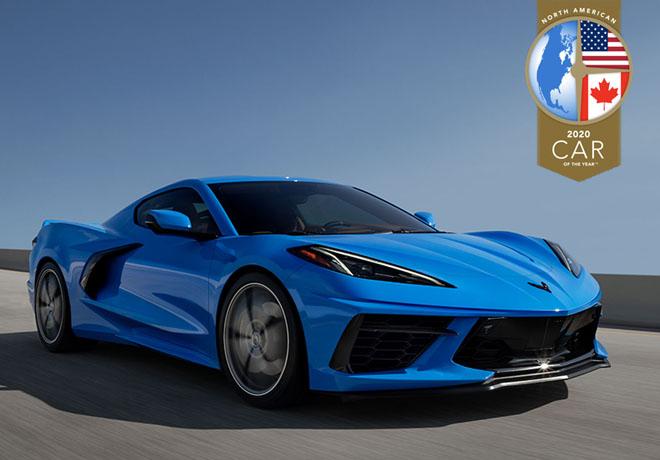 Chevrolet Corvette es nombrado Auto del anio de Norteamerica 2020