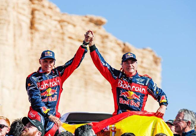 Dakar 2020 - Etapa 12 - Final - Lucas Cruz y Carlos Sainz - MINI
