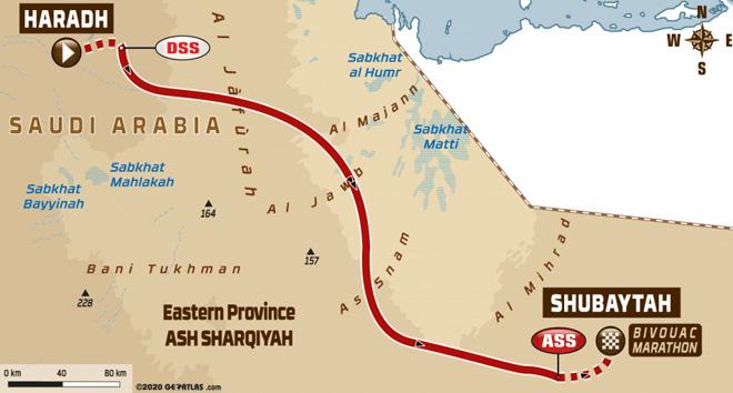 Dakar 2020 - Recorrido Etapa 10