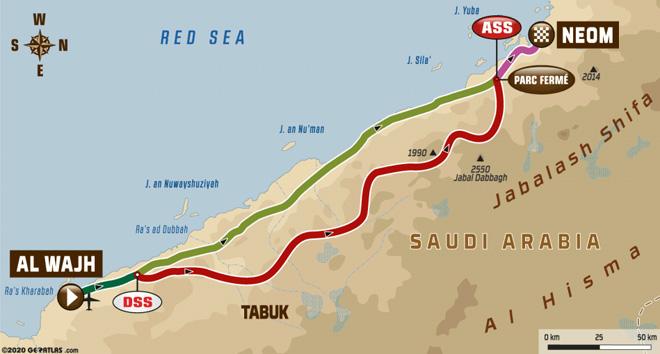 Dakar 2020 - Recorrido Etapa 2