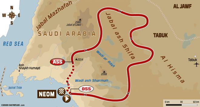 Dakar 2020 - Recorrido Etapa 3