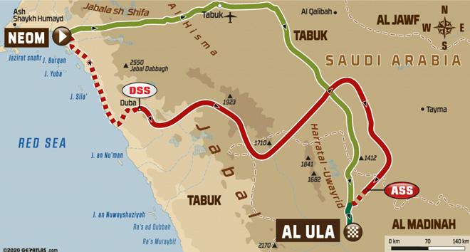 Dakar 2020 - Recorrido Etapa 4