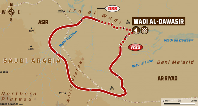 Dakar 2020 - Recorrido Etapa 8