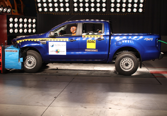 Latin NCAP - Ford Ranger - con 3 Airbags
