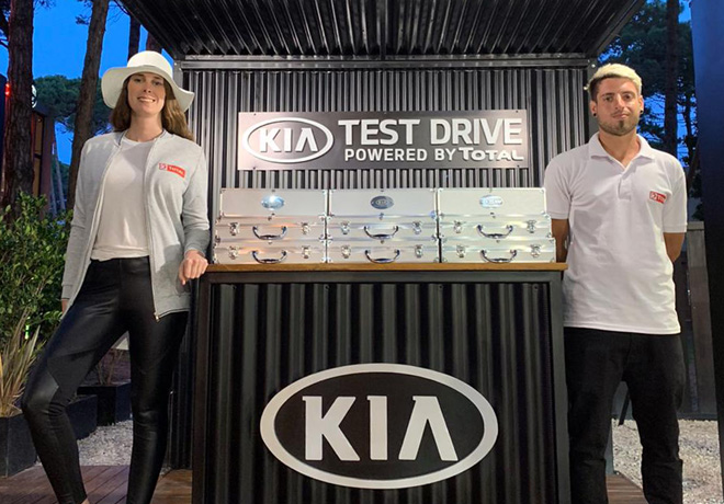 TOTAL presente en Cariló junto a KIA Motors.