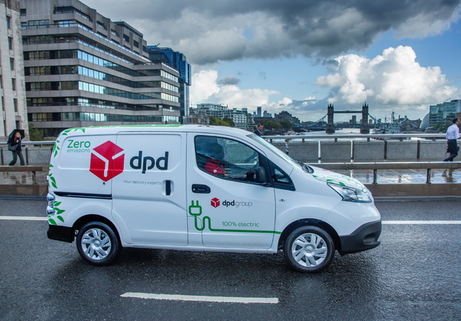 Nissan suministra a DPD 300 vehiculos comerciales e-NV200 electricos