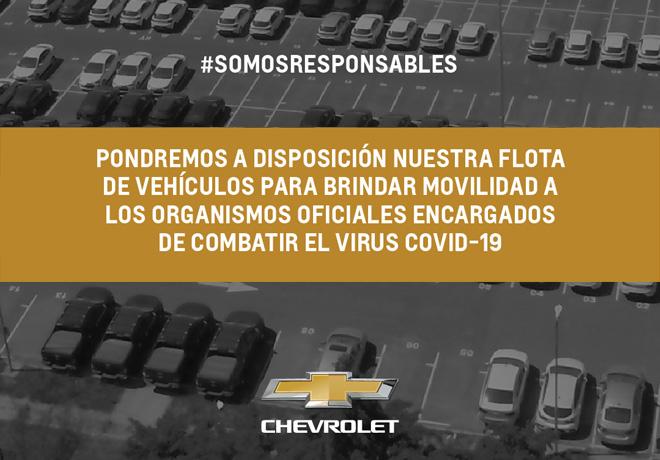 General Motors en Argentina pone a disposición su flota de vehículos para contribuir en el combate del virus Covid-19.