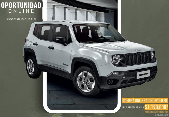 Jeep lanza nueva plataforma digital con una versión exclusiva del Renegade.