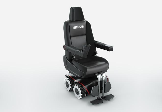 Toyota Argentina presenta SIRUOM, la nueva silla de ruedas omnidireccional a batería.