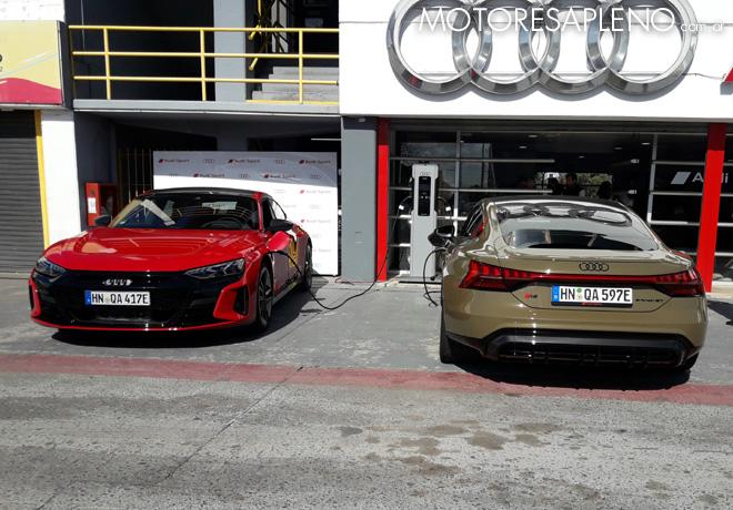 Audi presentó en Avant Première a la prensa especializada los RS E-Tron GT, cuyo lanzamiento está previsto en 2022.