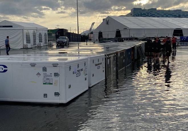 Fórmula 1: El paddock en Sochi se inundó luego de fuertes lluvias, ¿el fantasma de Spa-Francorchamps llegará a Rusia?